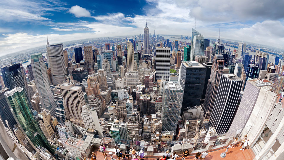 new york city fisheye